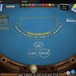 Live Caribbean Hold'em poker
