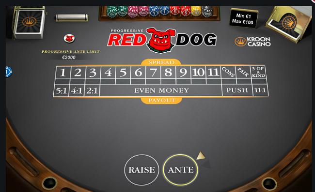progressive red dog live casino