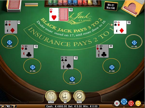 Live Blackjack in Nederlands casino