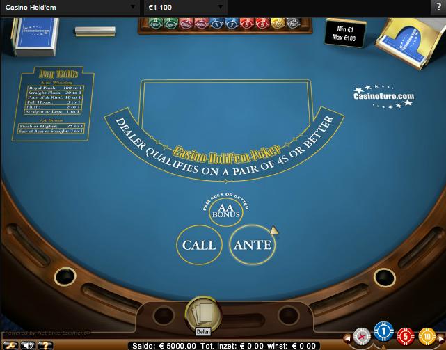 live casino holdem poker op tafel